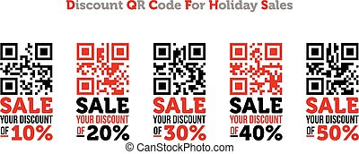 Discount QR code for holiday sales