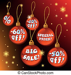 Discount Red Christmas Labels