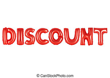 discount, red color
