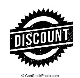 Discount rubber stamp. Grunge design with dust scratches....