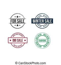 Discount sale grunge rubber stamp set grunge sale vector image