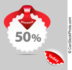 Discount sale labels