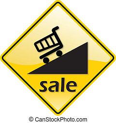 Discount Sale Percent Label Sign