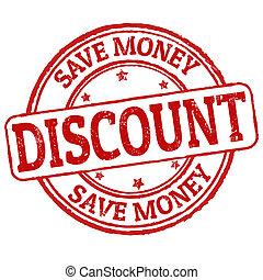Discount, save money stamp