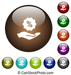 Discount services color glass buttons