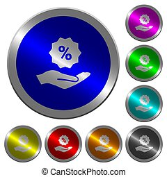 Discount services luminous coin-like round color buttons