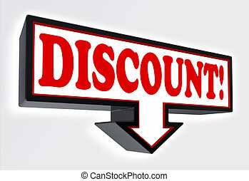 discount sign with arrow