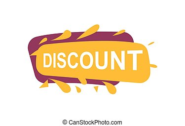 Discount speech bubble for retail promotion