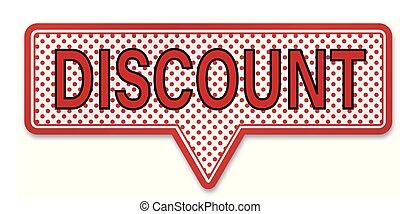 discount speech bubble