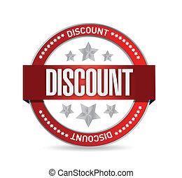 discount Stamp seal illustration design