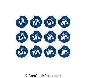 Discount sticker - blue