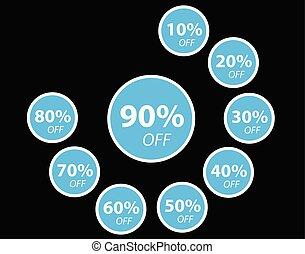 Discount Sticker blue