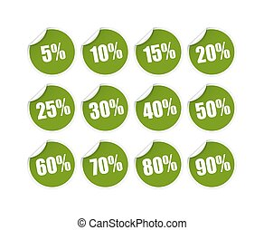 Discount sticker - green