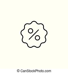 discount sticker line icon on white background