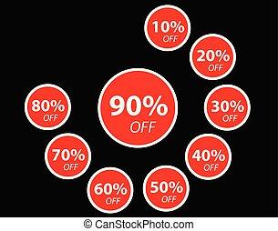 Discount Sticker red