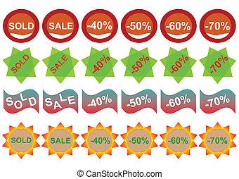Discount sticker set