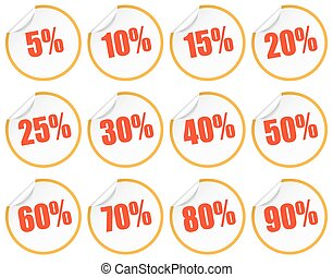 Discount sticker - yellow + red