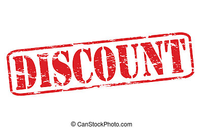 Discount - Rubber stamp with word discount inside, vector...