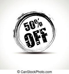 discount vector - vector discount grungy stamp design