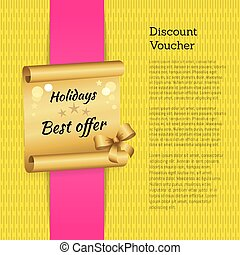 Discount Voucher Holidays Offer Promo Advertising - Discount...