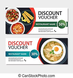 Discount voucher mexican food template design.