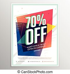 discount voucher with elegant abstract design