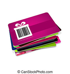 discount vouchers with bar code isolated over white...