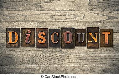 Discount Wooden Letterpress Concept