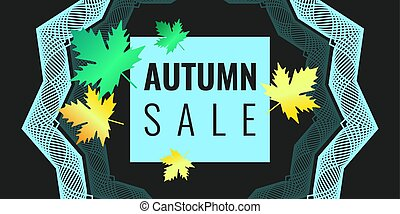 Discounts autumn bright background