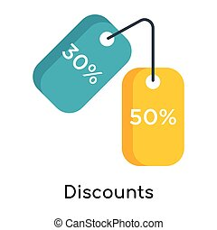 Discounts icon isolated on white background