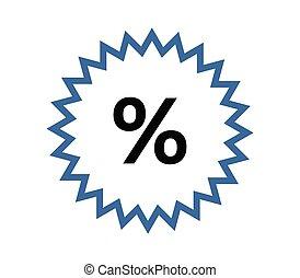 discounts icon on white background