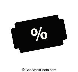 discounts icon on white background