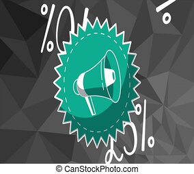 Discounts stamp with bullhorn HD animation - Discounts stamp...