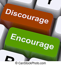 Discourage Or Encourage Keys To Motivate Or Deter -...