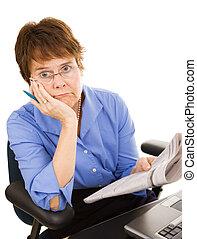 discouraging, caza del trabajo