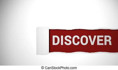 Discover concept sign shot clip