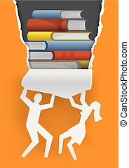 Discover good literature, advertising concept.