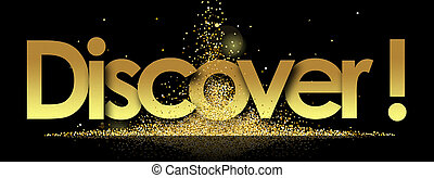 Discover in golden stars background