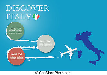 Discover Italy blank template vector