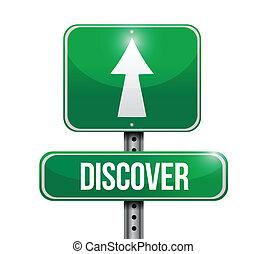 discover road sign illustration design over a white background