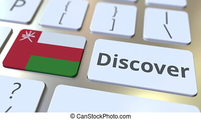 DISCOVER text and flag of Oman on the buttons on the...