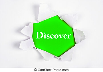 Discover under paper - Discover word discovered under paper