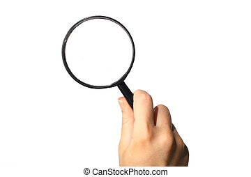 discovery magnifier hand take in fingers