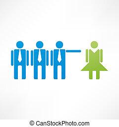 discriminación, icono