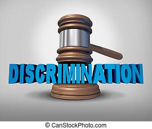discrimination, concept, droit & loi