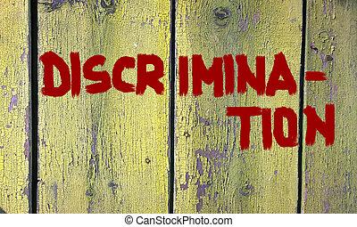 discrimination, concept