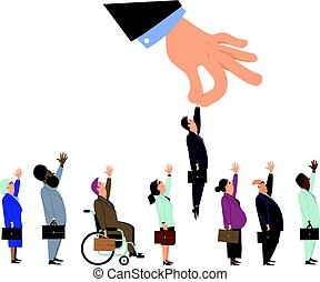 Discrimination during an employment interview