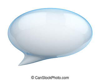 discurso, burbuja,  3D