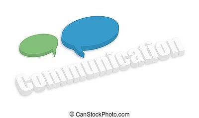 discurso, burbujas, comunicación, bandera