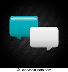 discurso, burbujas, icono comunicación